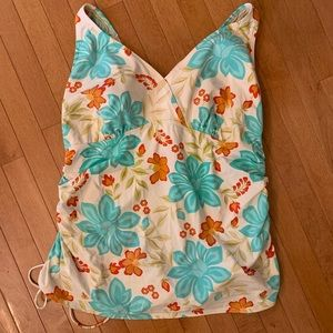 LANDS' END Size 24W Tankini Swimsuit Top